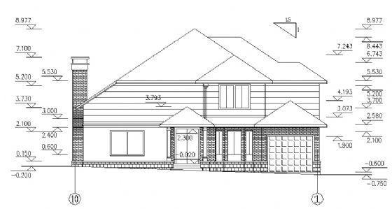 二层别墅建筑施工图-2