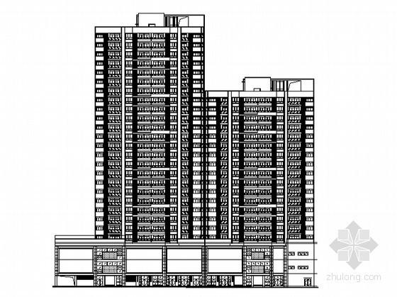 [重庆]某现代小区1、2号楼建筑施工图(原创)