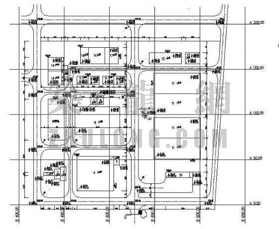 某废水处理站总平面布置图