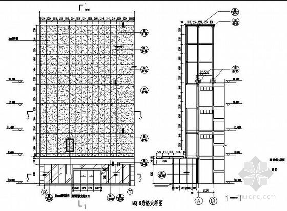 U型铝方通吊顶节点大样图资料下载-铝单板幕墙雨篷节点图