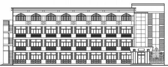 某中学四层宿舍楼建筑施工图