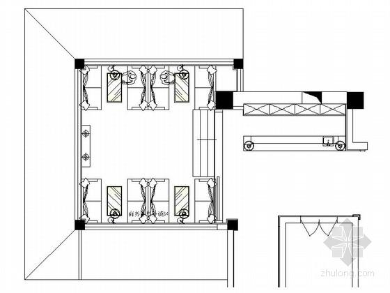 [陕西]豪华酒店商务休息洽谈区室内装修施工图
