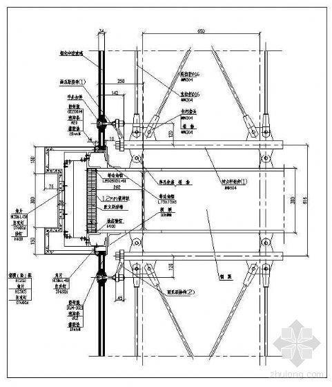 拉杆式点式幕墙节点(八)
