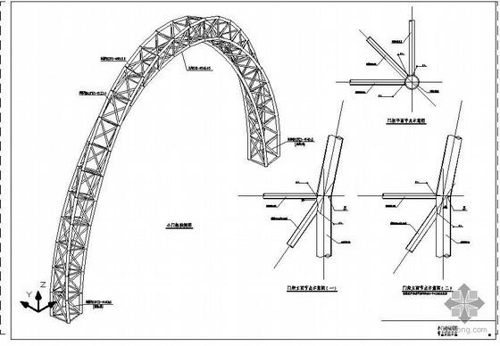 某钢结构大门图纸