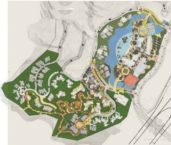 深圳高档小区度假区景观设计方案