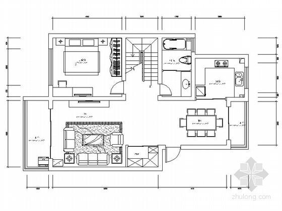 [无锡]三层大户型家装室内装修图