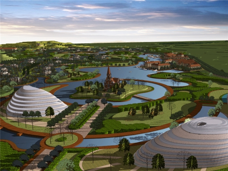 [广东]知名设计院大型欧式新古典体育生态度假园区概念方案文本