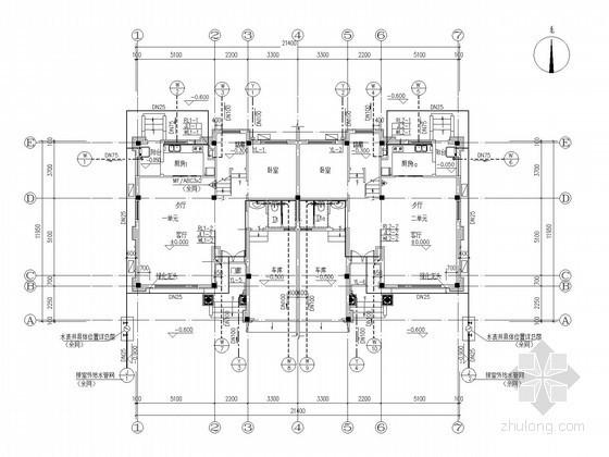 [湖南]低层住宅楼群给排水施工图