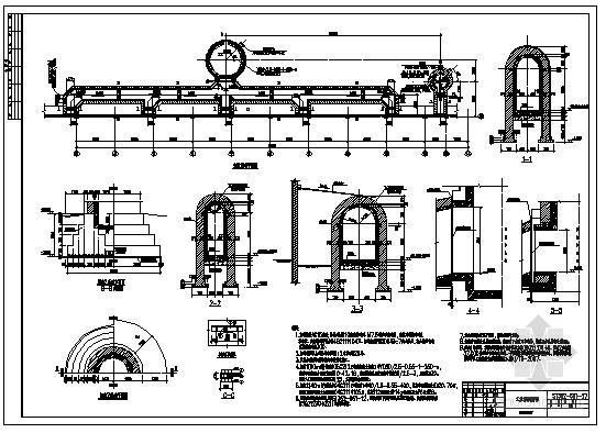 某烟囱及烟道节点构造详图
