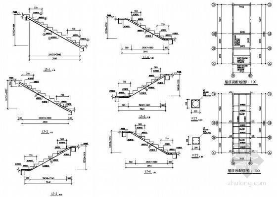 某二层框架(木屋架)厂房楼梯构造详图