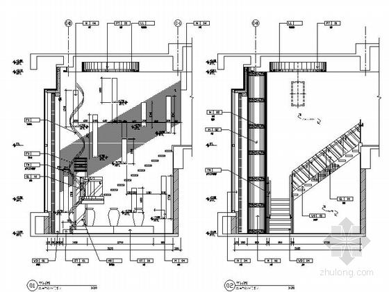 [江苏]优雅苏式会议酒店总统套房室内施工图 立面图