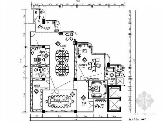 [深圳]某监理公司办公室室内装修施工图(含效果)
