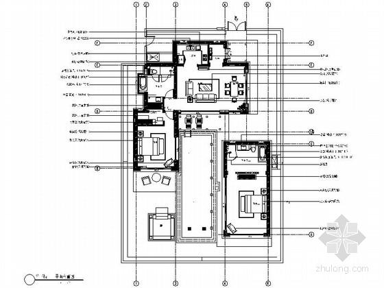 [海南]某度假区别墅A户型室内装修图
