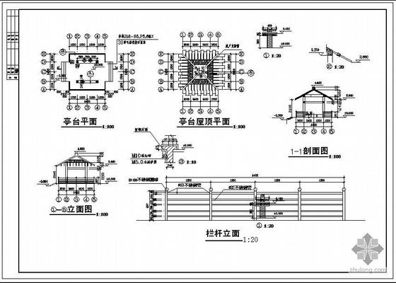 某方亭建筑结构设计施工图