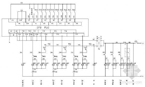 一控二变频器资料下载-ABB变频一控三电路图