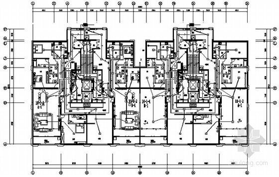 [云南]某大型小区项目完整电气施工图纸286张(10栋高层、地下室、幼儿园)