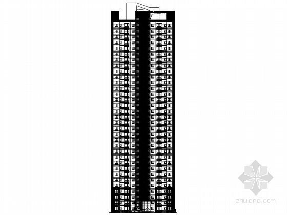 [济南]某三十三层一梯四住宅楼建筑施工图