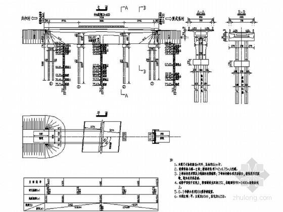 [黑龙江]预应力钢筋混凝土连续箱梁桥施工图63张(花瓶式墩)