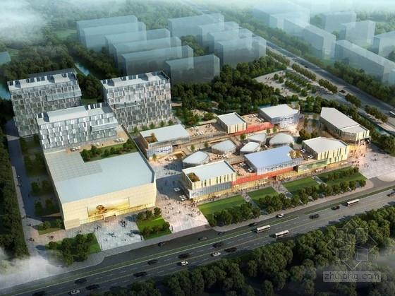 [上海]花园式大型现代风格商业广场设计方案文本