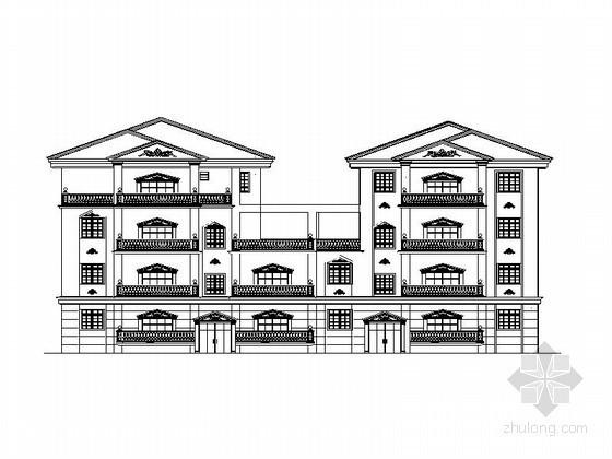 某四层欧式花园洋房建筑施工图