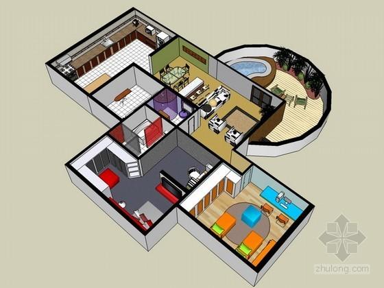 家装sketchup模型下载