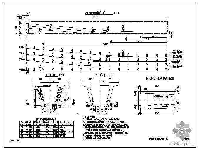 30米预应力混凝土箱梁设计图(公路Ⅰ级)