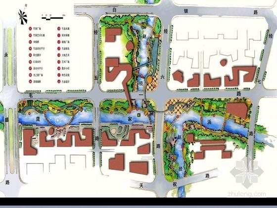 [上海]商务休闲区滨河绿化带景观设计方案