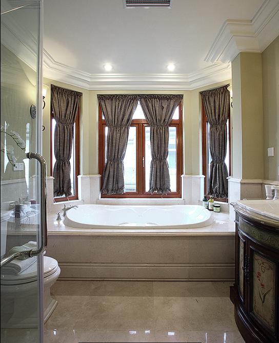 保利高尔夫花园别墅四期室内设计施工图(含实景图)-洗浴间实景图