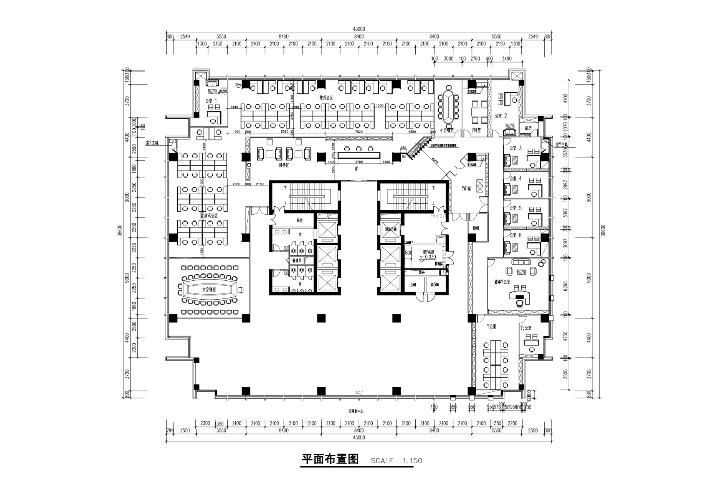 泛谷药业现代风格办公楼室内设计施工图及效果图(含59张)图片