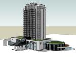 中式酒店SketchUp模型下载