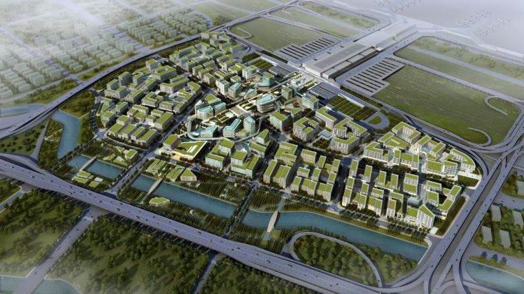 [上海]现代风格低碳城市综合体建筑设计方案文本_1