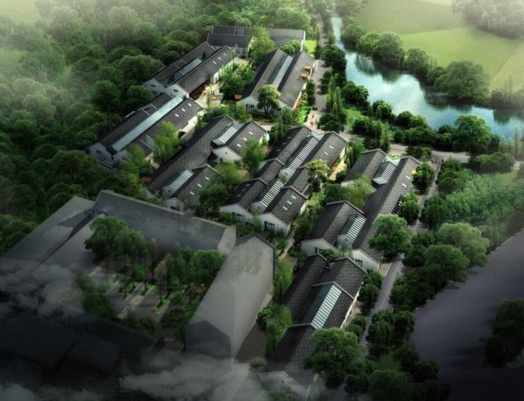[浙江]新中式風格創意產業園企業行政辦公樓綜合體設計方案文本