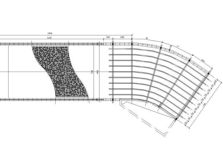 精品地下车库廊架详图设计——(木结构)