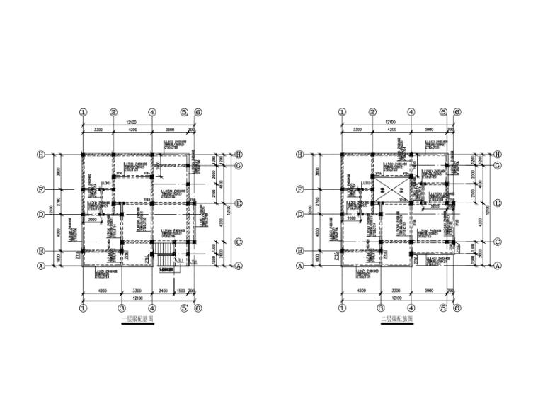 3层私人混合结构(钢混+砌体)小别墅建筑结构图