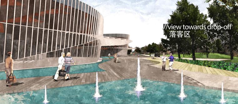 [广东]三亚椰风路项目概念景观设计(PDF+81页)-水景