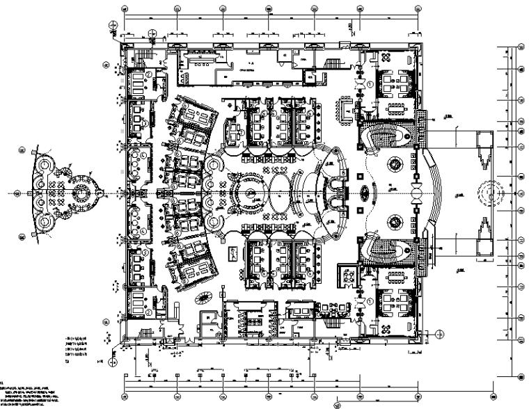 中帝京夜总会空间设计施工图