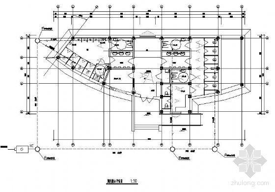 某公共厕所给排水设计平面图