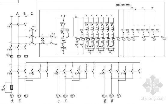 电动葫芦单梁桥式起重机原理图
