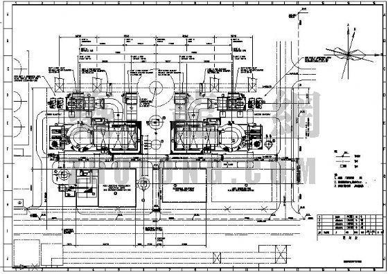 电厂脱硫岛雨水管道总平面布置图