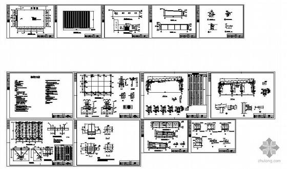 某汽车库钢结构建筑结构设计图