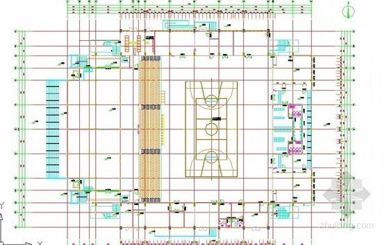 [江苏]2012年体育馆铝合金玻璃幕墙雨蓬工程量清单及施工图(编制说明+CAD66张)