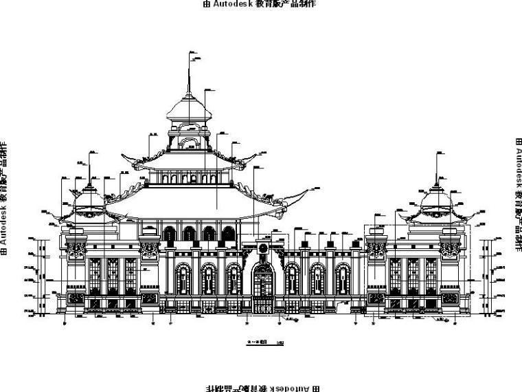 [内蒙古]四层新古典风格多功能文化中心建筑施工图(16年最新)_4