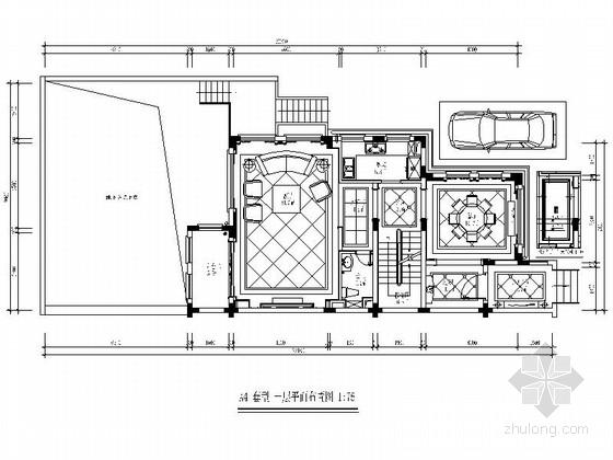 [三亚]典雅欧式三层别墅样板房CAD装修图(含效果)