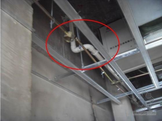 台盆排水支管采用90°直角弯头