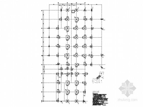 [河南]地上四层框架结构C区商业区结构施工图