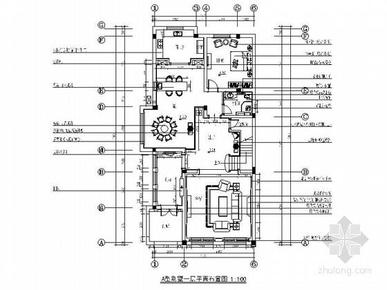 [江苏]豪华居住区尊贵简欧风格别墅装修室内设计施工图(含效果)