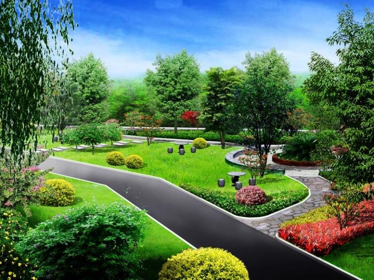 [重庆]某住宅小区绿化景观工程招标控制价(含施工图纸)