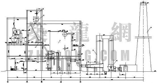 某10吨锅炉房设计图图片