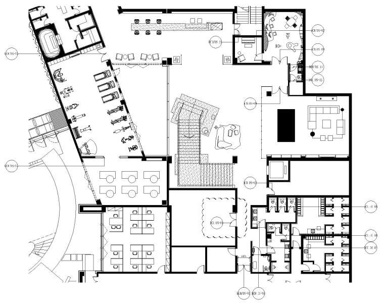 香港Moty's   Design-成都悦城会所室内装修设计|CAD施工图+物料表+效果图