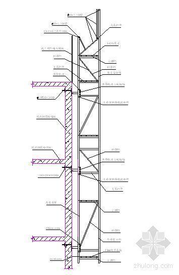高层施工附着式升降脚手架施工工法